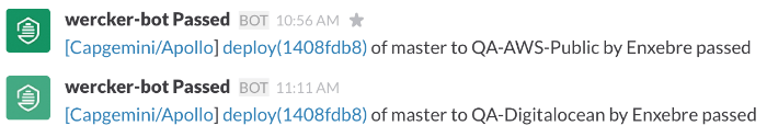 Fig 4. Slack notification