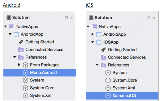 Native Android and iOS libraries
